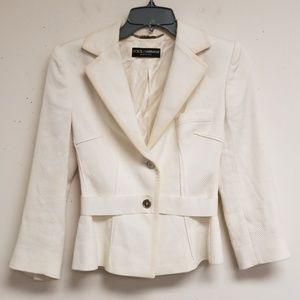 Dolce & Gabbana White Button Blazer Size 40